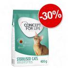 Croquettes Concept for Life 400 g : 30 % de remise !