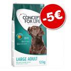 Croquettes Concept for Life 12 kg : 5 € de remise !