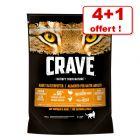 Croquettes Crave Adult pour chat 4 x 750 g + 750 g offerts !