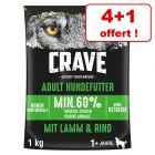 Croquettes Crave Adult pour chien 4 x 1 kg + 1 kg offert !