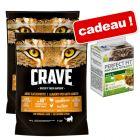 Croquettes Crave Adult 2 x 750 g + Sachets Perfect Fit 6 x 50 g offerts !