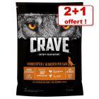 Croquettes Crave Adult 2 x 1/2,8/11,5 kg + 1/2,8/11,5 kg offerts !