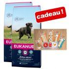 Croquettes Eukanuba 2 x 7,5 à 15 kg + friandises 8in1 offertes !