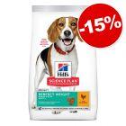 Croquettes Hill's Science Plan 1,5 à 14 kg pour chien : 15 % de remise !