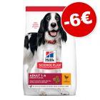Croquettes Hill's Science Plan pour chien 14 kg : 6 € de remise !