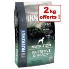 Croquettes Nutrivet Inne Dog 10 kg + 2 kg offerts !