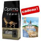Croquettes Optimanova 12 kg + friandises Barkoo Deli Rolls Dental 190 g offertes !