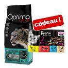 Croquettes Optimanova 8 kg + friandises Tigeria Sticks offertes !