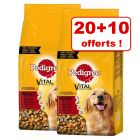 Croquettes Pedigree pour chien : 20 + 10 kg offerts !