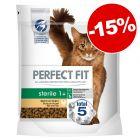 Croquettes PERFECT FIT pour chat 650 g à 7 kg  : 15 % de remise !