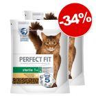 Croquettes PERFECT FIT pour chat 2 x 750 g / 1,4 kg : 34 % de remise !