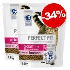 Croquettes PERFECT FIT pour chat 2 x 1,4 kg : 34 % de remise !