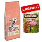 Croquettes PURINA Dog Chow 14 kg + friandises AdVENTuROS Nuggets 300 g en cadeau !