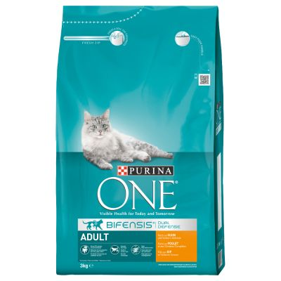 Croquettes Purina One 3 kg + 12 x 85 g de sachets PURINA ONE offerts !