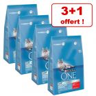 Croquettes PURINA ONE 3 x 3 kg + 1 sac offert !