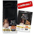 Croquettes PURINA PRO PLAN 14 kg + biscuits light 400 g en cadeau !
