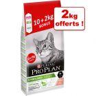 Croquettes PURINA PRO PLAN pour chat 10 kg + 2 kg offerts !
