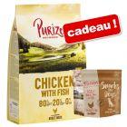 Croquettes Purizon 12 kg + friandises 100 g offertes !