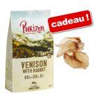 Croquettes Purizon sans céréales 12 kg + oreilles de bœuf naturelles Rocco offertes !