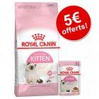 Croquettes Royal Canin Kitten + 12 sachets / boîtes : 5 € de remise !