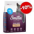 Croquettes Smilla 4 kg pour chat : 10 % de remise !