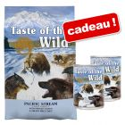Croquettes Taste of The Wild 12,2 kg + aliment humide 2 x 390 g offerts !