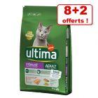 Croquettes Ultima Stérilisé pour chat 8 kg + 2 kg offerts !
