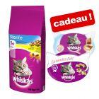 Croquettes Whiskas 14 kg pour chat + Friandises Whiskas offertes !