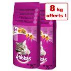 Croquettes  Whiskas  pour chat 2 x 10 kg + 8 kg offerts !