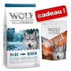 Croquettes Wolf of Wilderness 12 kg + friandises Bouchées ou Wild Bites 180 g offertes !