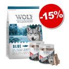 Croquettes Wolf of Wilderness 5 kg + friandises lyophilisées : 15 % de remise !
