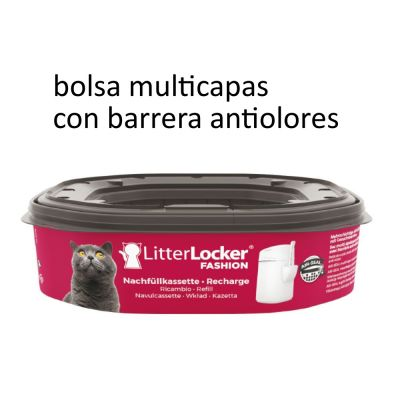 Cubo LitterLocker® Fashion para desechar la arena