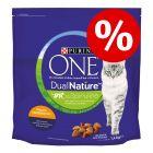 2de 50% korting! 2 x 1,4 kg Purina ONE Dual Nature