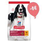 6€ DI SCONTO! 14 kg Hill's Science Plan per cani
