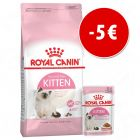 5 € DI SCONTO! Royal Canin Kitten crocchette + umido
