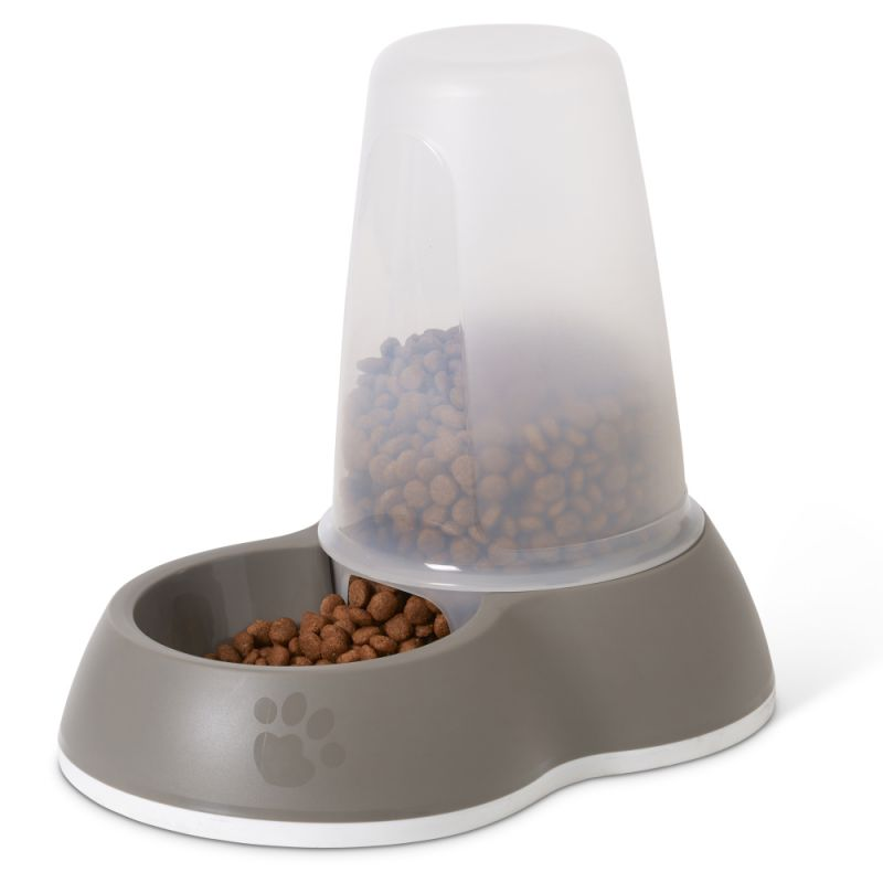 Distributeur de nourriture Savic Loop, gris pour chien et chat