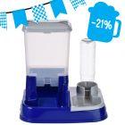 Distributore di acqua e crocchette 2in1