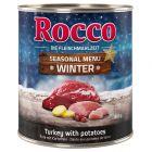Édition limitée : Rocco Menu d'hiver bœuf, dinde, pommes de terre pour chien