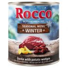 Édition limitée : Rocco Menu d'hiver bœuf, foie d'oie, pommes de terre pour chien