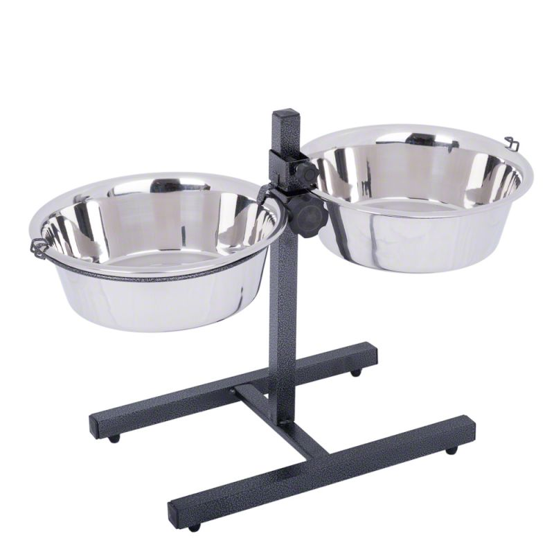Dog Bowl Stand with 2 Stainless Steel Bowls