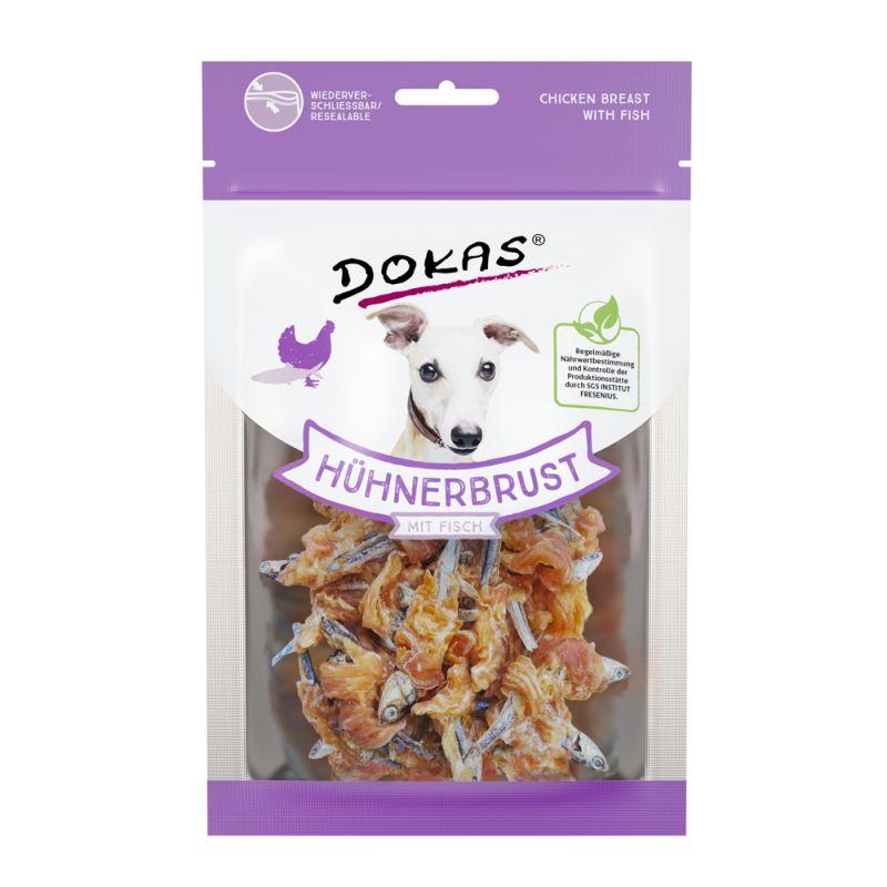 Dokas snack de pollo y pescado para mascotas
