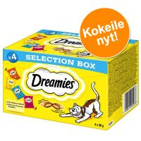 Dreamies Selection Box kana, juusto, lohi, nauta