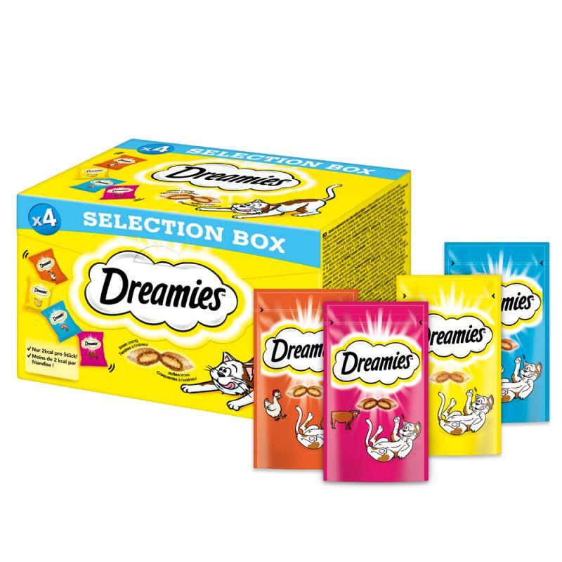 Dreamies Selection Box kana, juusto, lohi, nauta