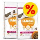 Dubbelpack: IAMS torrfoder för katter 2 x 10 kg