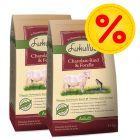 Dubbelpack Lukullus kallpressat hundfoder Charolais nötkött & öring