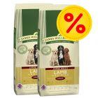 Dubbelpack: 2 x 15 kg James Wellbeloved Adult / Senior hundfoder