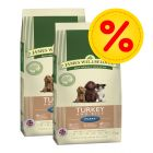 Dubbelpack: 2 x 15 kg James Wellbeloved Puppy / Junior hundfoder
