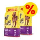 Dubbelpack: 2 x 18 kg JosiDog hundfoder