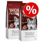 "Dubbelpak: 2 x 12 kg Wolf of Wilderness ""The Taste Of"""