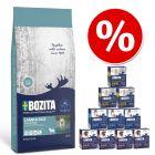 Duże opakowanie Bozita + Pakiet mieszany w galarecie, 12 x 370 g